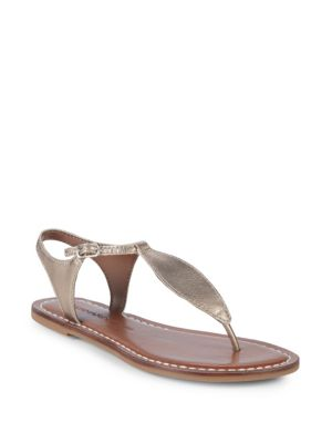 T-Strap Leather Sandals