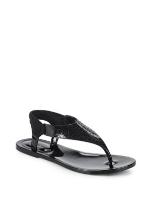 JANNY RUBBER THONG SANDALS