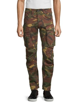G-STAR RAW Rovic 3D Straight Tapered Camo Cargo Pants in Dark Fall