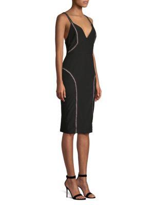 MISHA COLLECTION Katie Seamed Sheath Dress in Black