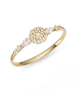 Camelot Hinged Bangle Bracelet/Gold