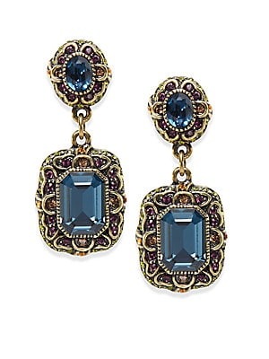 Damoiselle Multicolor Double Medallion Earrings