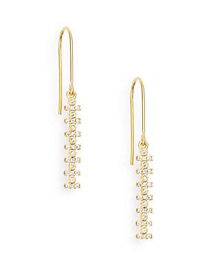 Bezel Bar Drop Earrings