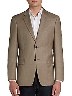 Tommy Hilfiger  Trim-Fit Two-Button Sharkskin Wool Sport Coat