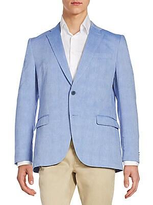 michael kors male 201959 regularfit cottonblend sportcoat