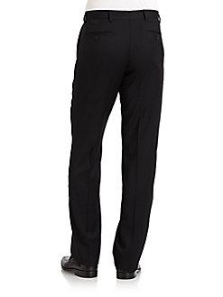 Classic-Fit Wool Gabardine Pants