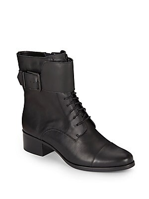 Serena Leather Combat Boots