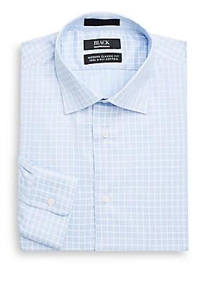 Modern Classic-Fit Windowpane Check Dress Shirt