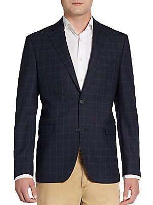 Slim-Fit Windowpane Wool Sportcoat
