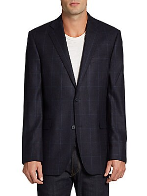 Windowpane Cashmere Slim-Fit Sportcoat