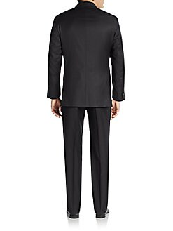 Trim-Fit Pinstripe Wool Suit