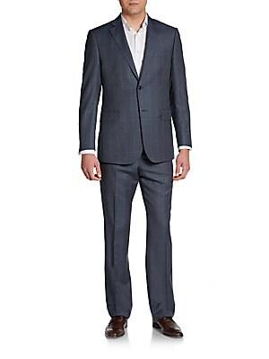 Classic-Fit Windowpane Suit