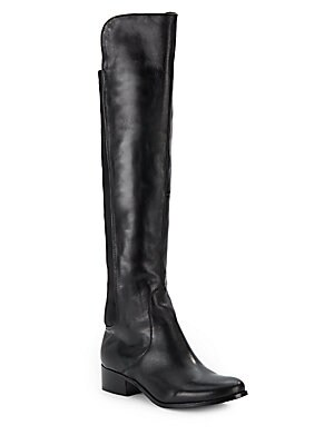 Jettison Stretch-Panel Leather Riding Boots