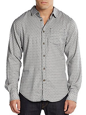 Enrico Polka Dot Cotton Shirt