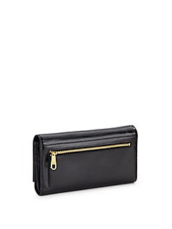 Keira Shine Saffiano Leather Wallet