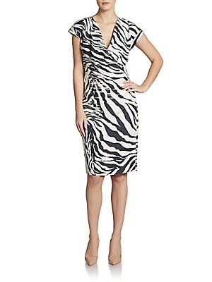 Cassandra Animal-Print Silk Dress