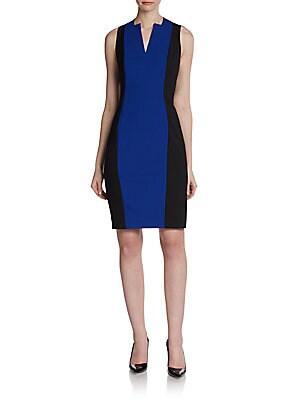 Colorblock Illusion Dress