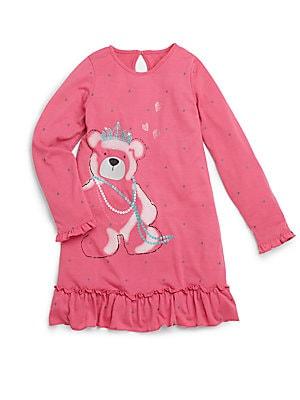 Toddler's & Little Girl's Teddy Bear Nightgown