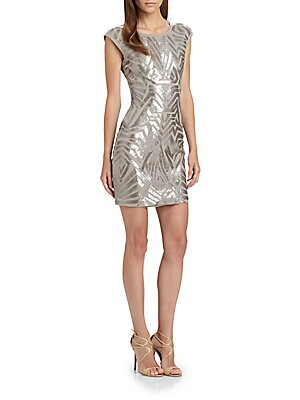 Vallissa Geometric Sequin Dress