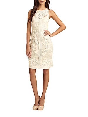 Soutache Lace Sheath Dress
