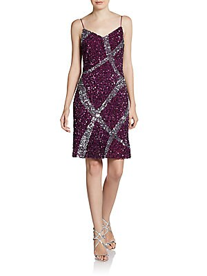 Two-Tone Sequined Dress