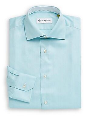 Regular-Fit Lambert Herringbone Dress Shirt