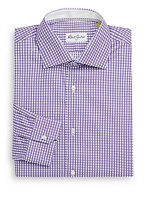 Lyon Satin Check Dress Shirt