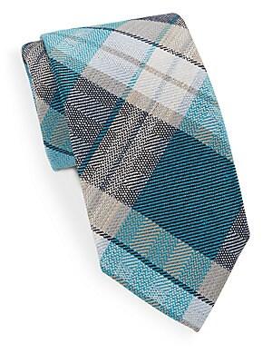 Poipu Plaid Check Silk Tie