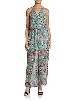 Romeo & Juliet Couture Printed Halter Jumpsuit
