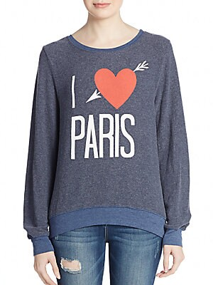 I Love Paris Graphic Sweatshirt