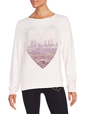 LA Skyline Heart Graphic Sweatshirt