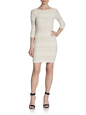 Scooped-Back Lace Sheath Dress