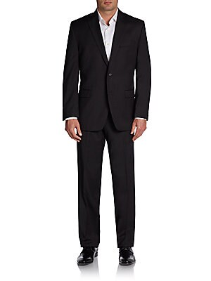 Regular-Fit Solid Wool Suit