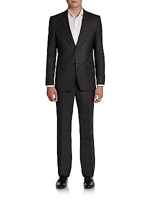 Houndstooth Windowpane Wool Suit