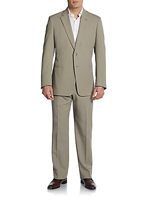 Cotton Poplin Solid Slim-Fit Suit