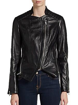 Quin Leather Moto Jacket