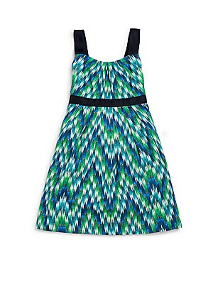 Toddler's & Little Girl's Zig-Zag Party Dress