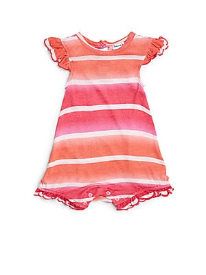 Infant's Striped Short Jumpsuit