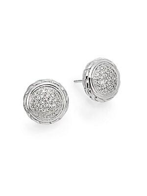 Click here for Classic Chain Diamond & Sterling Silver Stud Earri... prices