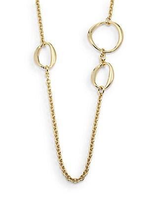 Asymmetrical Open Circle Station Necklace