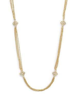 14K Gold-Plated Brass Station Necklace