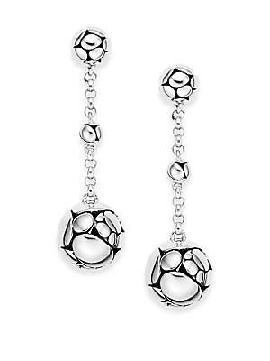 Kali Sterling Silver Chain Drop Earrings