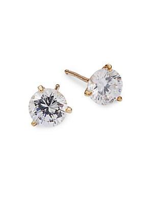 Crystal Faceted Stud Earrings