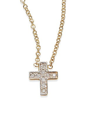 Click here for Diamond & 14K Gold Cross Necklace prices