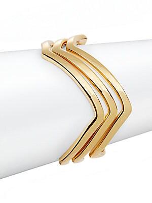 Zigzag Bangle Bracelet Set