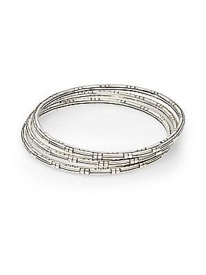Bedeg Sterling Silver Slim Bracelet Set