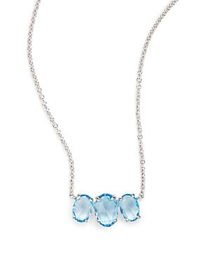 Click here for Blue Topaz & 14K White Gold Pendant Necklace prices