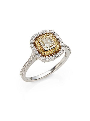 Click here for 1.25 TCW Certified Diamond  18K White & Yellow Gol... prices
