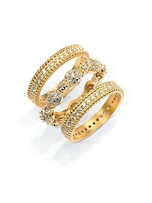 Pav? Scalloped Stackable Ring Set