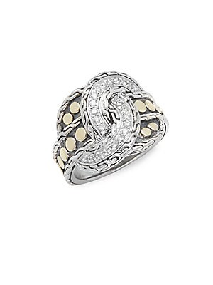 Click here for Diamond  14K Yellow Gold & Silver Ring prices